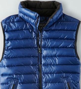【American Eagle】旗艦店限定品 AEOライトウェイトパファーベスト XL/Blue