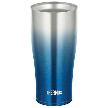サーモス 真空断熱タンブラー 420ml スパークリングブルー JDE-4