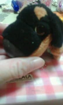 THE DOG キーホルダー 黒茶