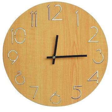 壁掛け時計 アナログ02-brown