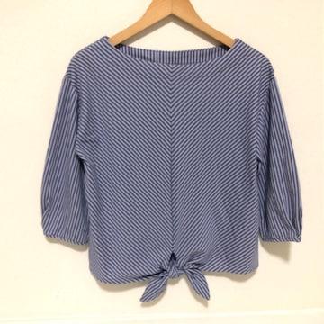 ストライプTシャツ リボン