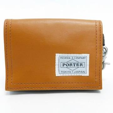 美品PORTERポーター コインケース 財布 キャメル 良品 正規品