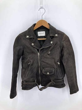 beautiful people(ビューティフルピープル)shrink leather riders jacket