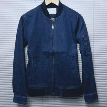 SALE ストレッチデニムMA-1ジャケット/BLUE/L