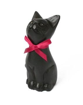 おすまし黒猫S★魔女の宅急便/ジジ★ねこ/ネコ木彫り雑貨☆動物