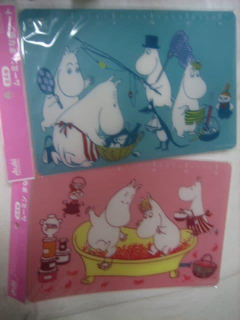 ムーミン まな板シート 2種 アサヒ 十六茶  < アニメ/コミック/キャラクターの
