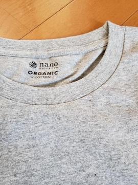 nano・universe ナノ・ユニバース 長袖 Tシャツ グレー L