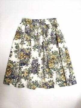 Ehyphen〓ヴィンテージ花柄〓膝下フレアースカート(F)〓新品
