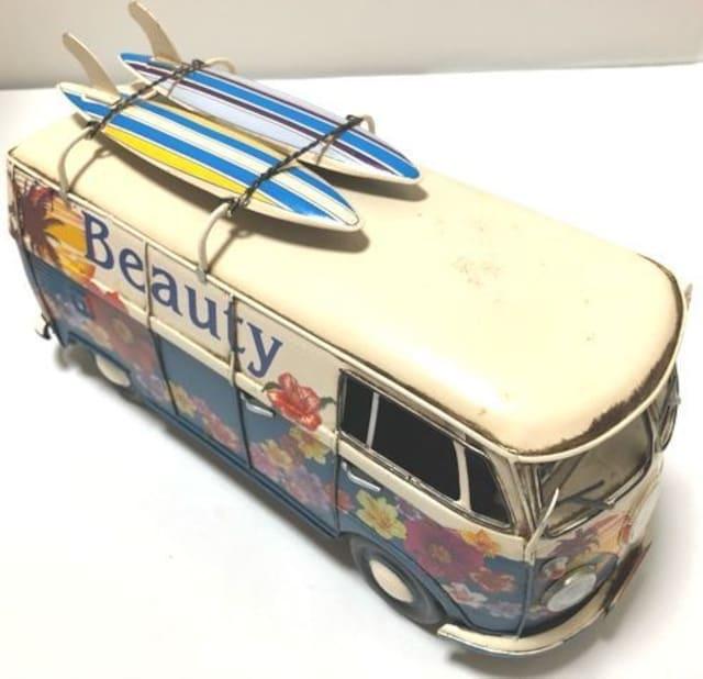 一点物ブリキのおもちゃシリーズ�Bワーゲンバス風ブリキ < ホビーの
