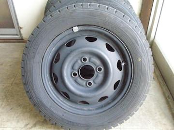 バリ山軽自動車激安ダンロップスタッドレス&テッチン4本セット