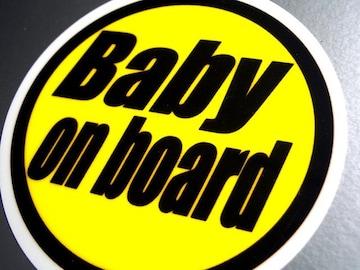 BABY on boardイエローステッカーB 赤ちゃんシール☆