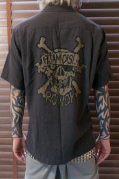 即決ワールドワイドラブパイレーツスカルボーリングシャツ!パンクロックスケーターバイカースタイル