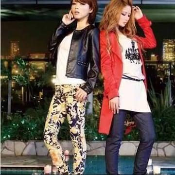 Rady☆クイーンスカーフ柄☆スキニーパンツ☆S☆ネイビー☆新品同様