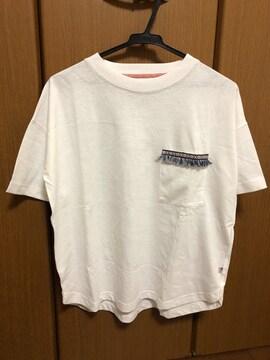 胸ポケットフリンジ  半袖Tシャツ USAコットン