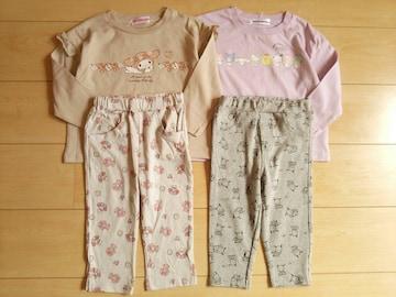 子供服サンリオ*長袖Tシャツ4枚セット*未使用キッズ服ガールズ