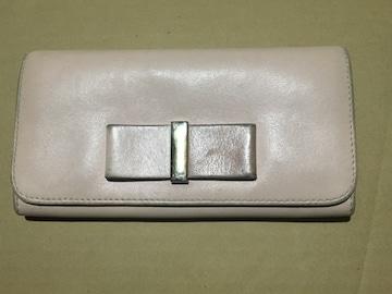 クロエ レザーボウ リボン付き長財布