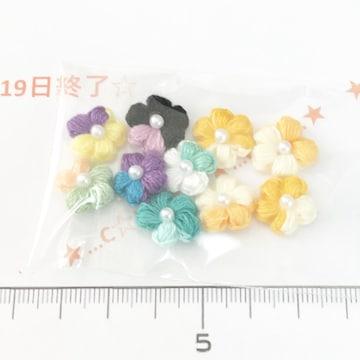 19*ハンドメイド*刺繍風お花モチーフ 19