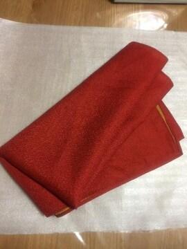 ミニ風呂敷 新品 赤×山吹色 未使用