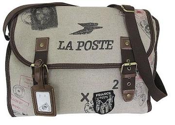 フランス郵政La Poste消印ポストマークスタンプショルダーバッグ
