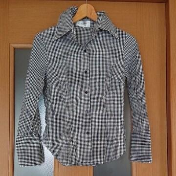 【値下げ不可】新品未使用!!極美品!!白黒チェックシャツ M