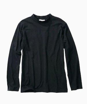 LLサイズ!着まわし豊富!キマル!男の黒!長袖ハイネックTシャツ!新品!