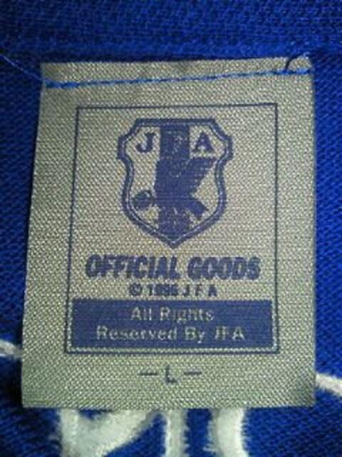 サッカー 日本代表 デザイン SONY ソニー 刺繍 ポロシャツ ブルー Lサイズ < 男性ファッションの