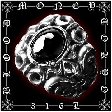 サージカルステンレスリング/メンズ指輪プレゼント/オラオラ系メンエグホスト/12055黒■19号