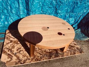 大型丸こたつテーブル折れ脚105日本製・ハロゲンヒーター付き
