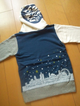 新品TONIGHTパーカー140紺ジャンクストアーJUNK STORE