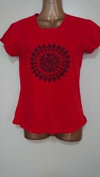 マライカ赤ビーズTシャツ