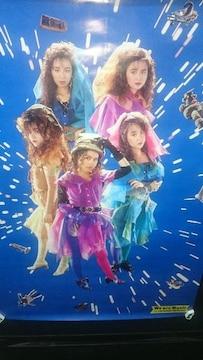 未使用 当時モノ プリンセス・プリンセス プリプリ ポスター 1991