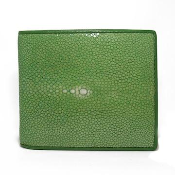 スティングレイ ポリッシュ 二つ折り短財布 SJSK-E1563-GR