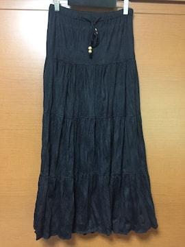大人気♪ブラックスカート♪ロング丈 マキシスカート(o^^o)