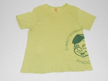 衣類 メンズ Lサイズ 半袖Tシャツ ディズニー ピノキオ 黄緑