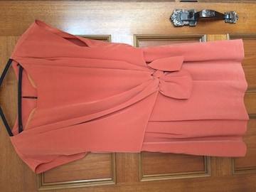 500円スタート 美品 アプワイザーリッシェ ワンピース オレンジ