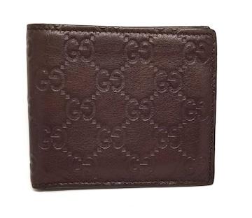正規グッチ財布札入れグッチシマ二つ折り札入レザーダー