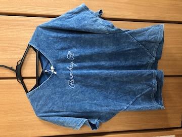 新品インディゴロゴ刺繍Tシャツ Lサイズ