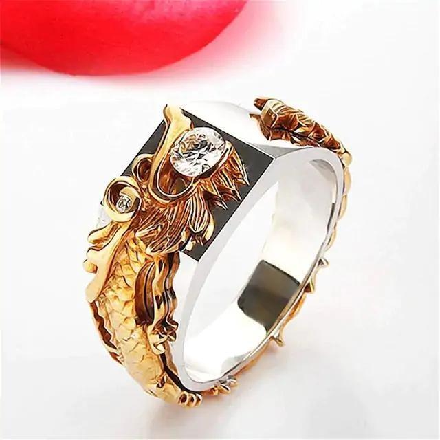 再入荷590円★満点評価 ドラゴンの頭型 手飾りリング 20号 < 男性アクセサリー/時計の