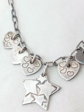 スタージュエリー【STAR JEWELRY】925シルバー<星とハート>ネックレス