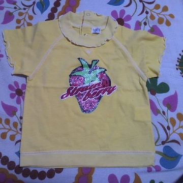 Sugar cornイエロー 苺プリ Tシャツ