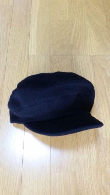未使用 KANGOL(カンゴール)キャスケット ニット帽 黒  < ブランドの