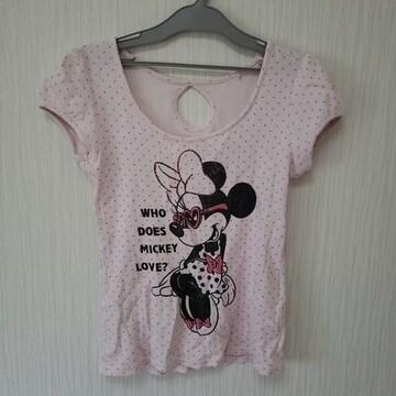 ディズニー ミニーマウス M 短袖 ドット Tシャツ