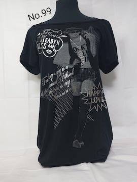 No.99 送料込 ロングTシャツ Mサイズ