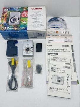Z270 B★ 美品CANON キヤノン IXY DIGITAL 500 デジカメカメラ