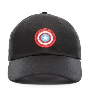 激レア【VANS X MARVEL】 【Captain America】キャップ黒