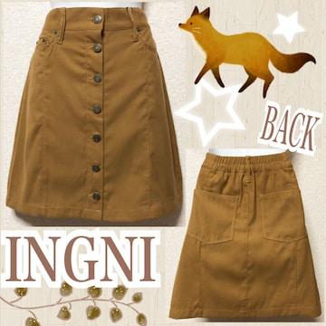【新品/INGNI】スウェード調フロントボタンミニスカ