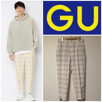 ☆GU ドライワイドテーパードイージーアンクルパンツ☆