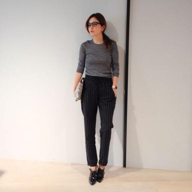 ステラマッカートニー☆人気モデル多数ご愛用☆ストライプパンツ☆未使用送料込  < 女性ファッションの