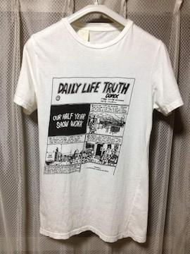 N.HOOLYWOOD ミスターハリウッド プリント 半袖Tシャツ Sサイズ36 白×黒 日本製