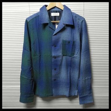 JARLD 遠州生地オープンカラーチェックシャツ/L 定価11,880円